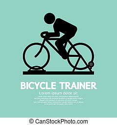 Bicycle Trainer Graphic Sign.