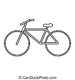 bicycle transport active sport outline