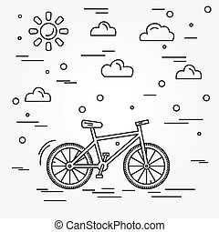 bicycle., vector.