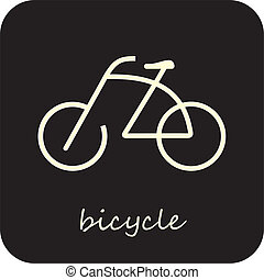 Bicycle - Vector Icon
