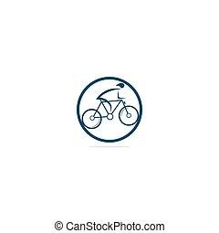 Bicycle vector logo design.
