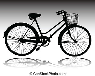 bicycle vector silhouettes