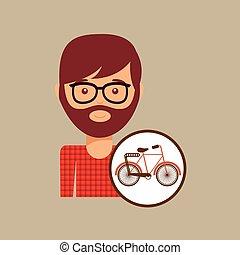 bicycle vintage icon retro background design
