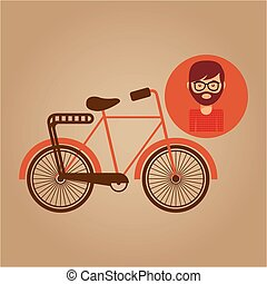 bicycle vintage icon retro background design