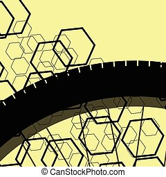 Bicycle vintage retro pattern background concept yellow