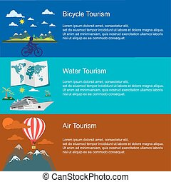bicycle water  air tourism concepts