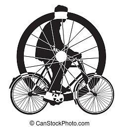 bicycle wheel art vector