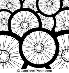 Bicycle wheel, bike wheels background pattern