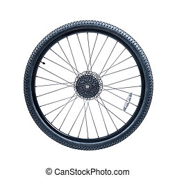 bicycle wheel of mountain bike