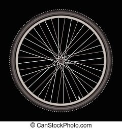 bicycle wheel on white background vector illustration
