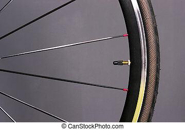 Bicycle Wheel Tire Mounted Bike Gear Spokes Metal Rubber