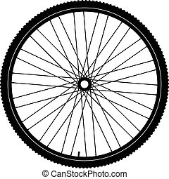 Bicycle wheel, vector