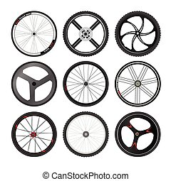 Bicycle Wheel vector set