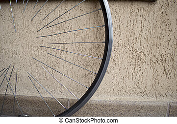 bicycle wheel with spokes