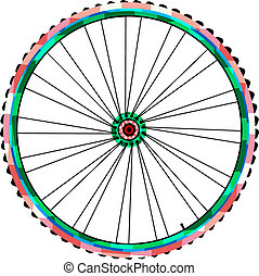 Bicycle wheels vector isolated