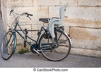 Bicycle with a child seat