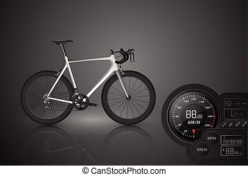 Bicycle with a speedometer,