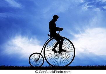bicycle with big wheel