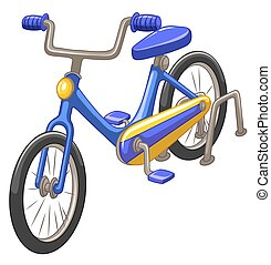 Bicycle with blue frame