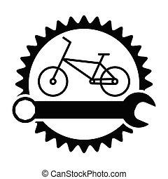 Bicycle Workshop Icon Bike Repair Service Industry