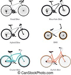 bicycles, ベクトル, セット