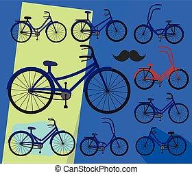 bicycles, マレ, デザイン, 女性