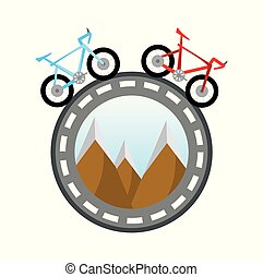 bicycles around the world concept