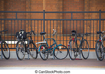 Bicycles at the train station