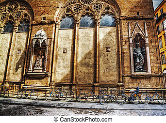 bicycles by Orsanmichele church in Florence
