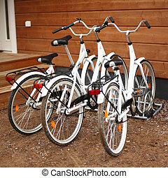 bicycles close up