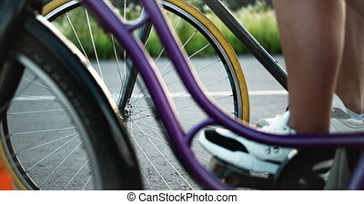 bicycles, closeup, wielen
