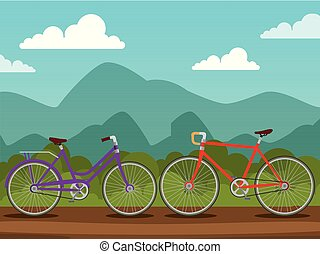 bicycles design transport with wheel and chain