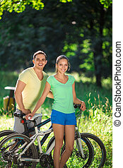 bicycles, emberek