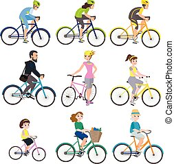 bicycles, gens