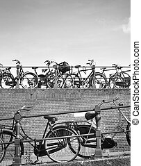 Bicycles in Amsterdam city