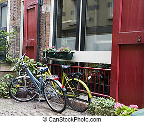 bicycles in amsterdam holland