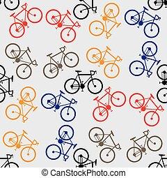 bicycles, modèle, coloré, seamless