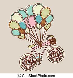 bicycles, palloni