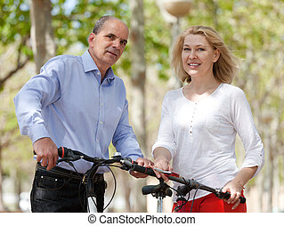 bicycles, para, dojrzały