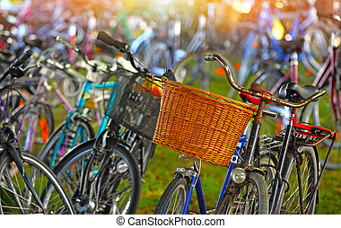 Bicycles parking lot