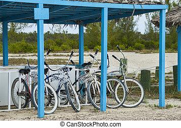 bicycles, plage, croiseur