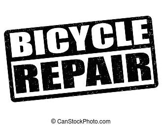 Bicycles repair stamp