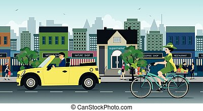 bicycles, route