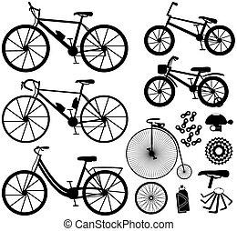 bicycles, sześć, rodzaje