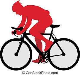Bicyclist - Abstract vector illustration of bicyclist