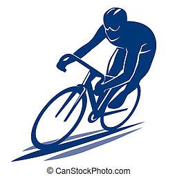 Bicyclist illustration