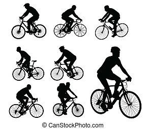 bicyclists, 黑色半面畫像