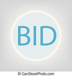 bid concept- vector illustration