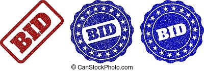 BID Grunge Stamp Seals - BID grunge stamp seals in red and...
