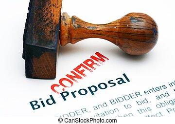 Bid proposal - confirm